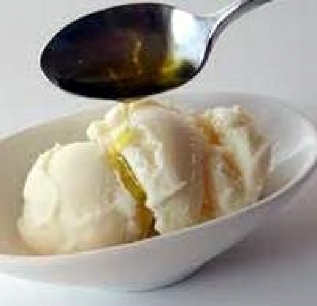 Un gelato fuori stagione per un extra vergine laziale appena franto