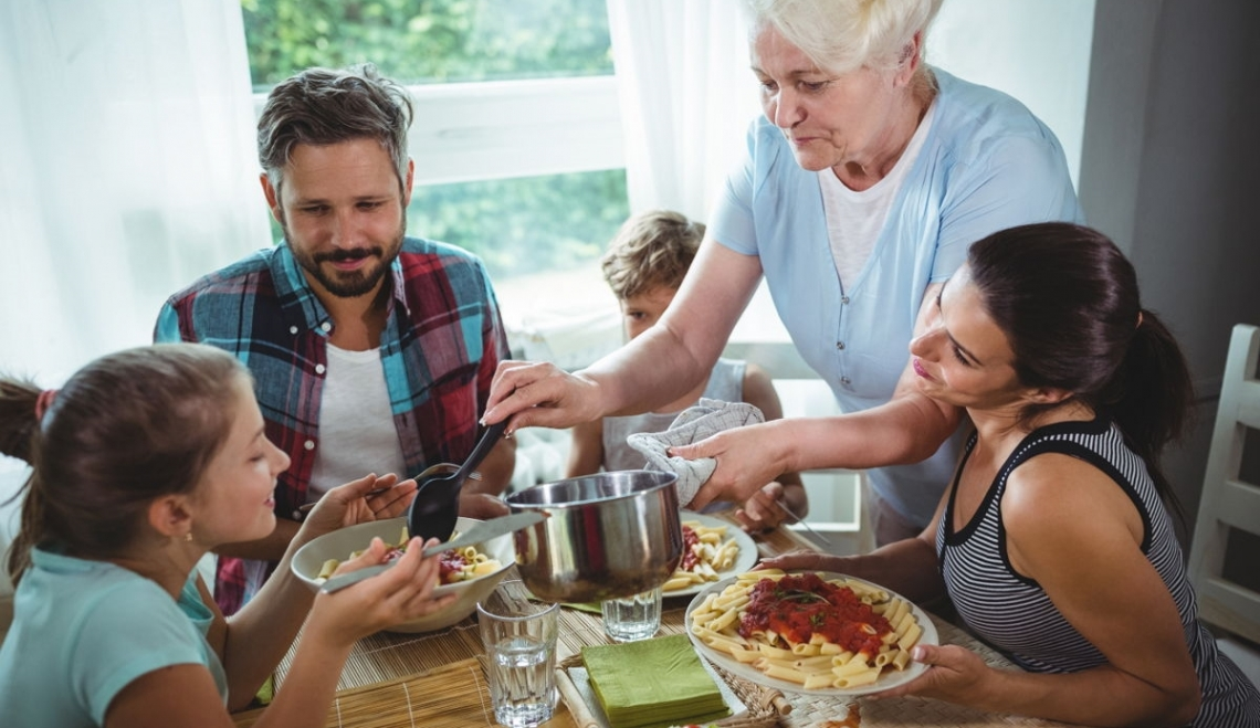 Il gusto degli italiani si crea grazie ai pasti in famiglia