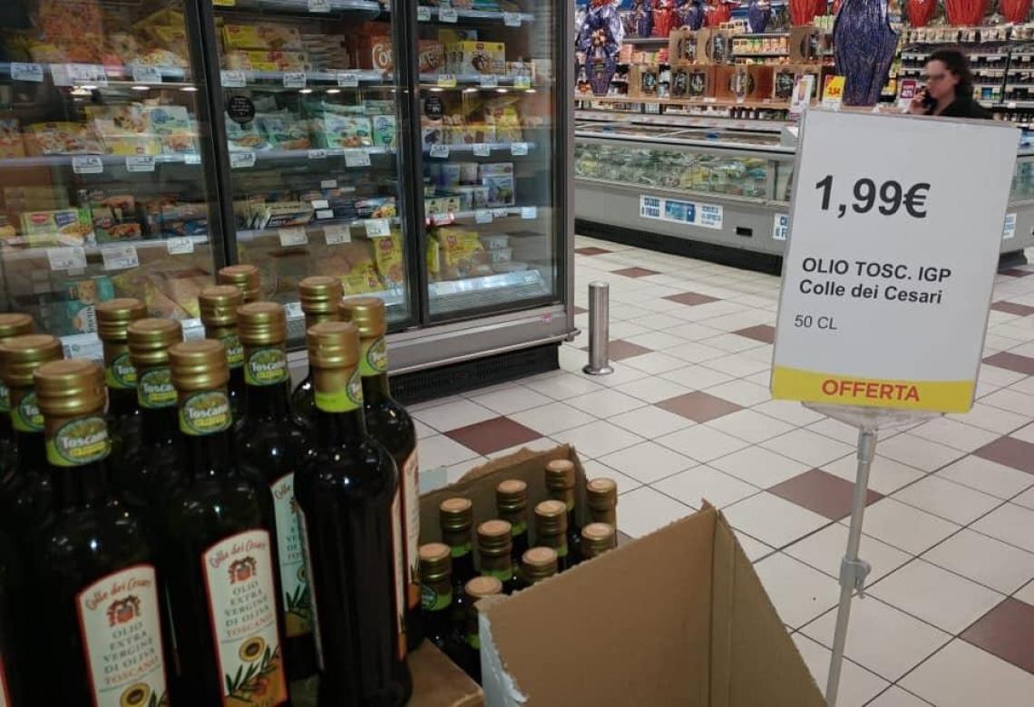Olio d'oliva Igp Toscano a 1,99 euro? Le speculazioni continuano