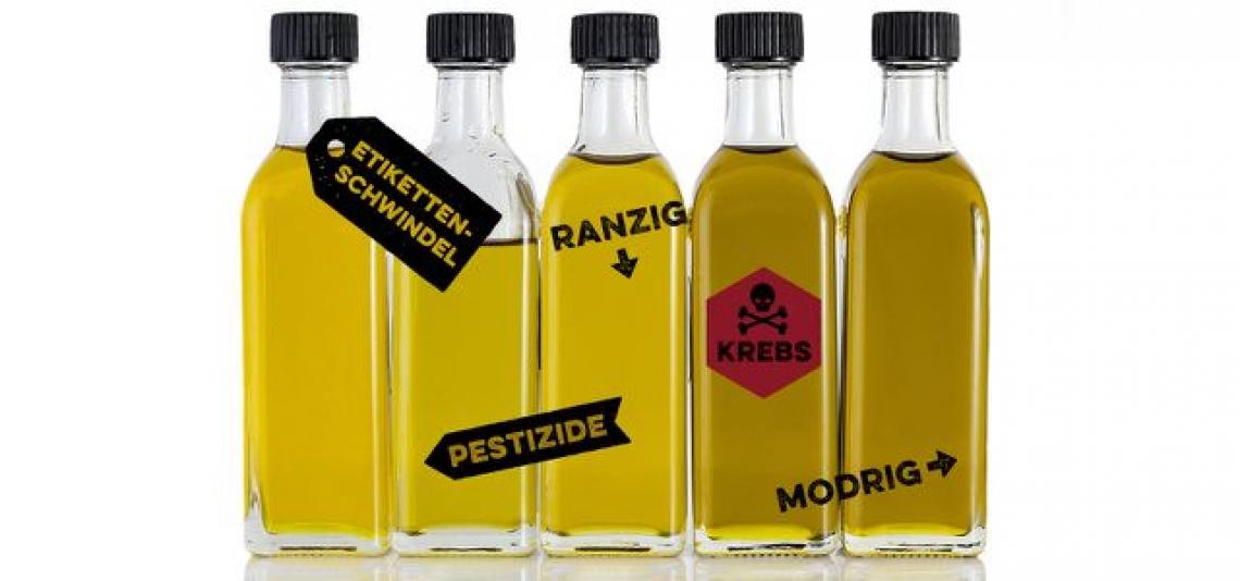 I consumatori tedeschi bocciano l'olio extra vergine di oliva che trovano nei supermercati
