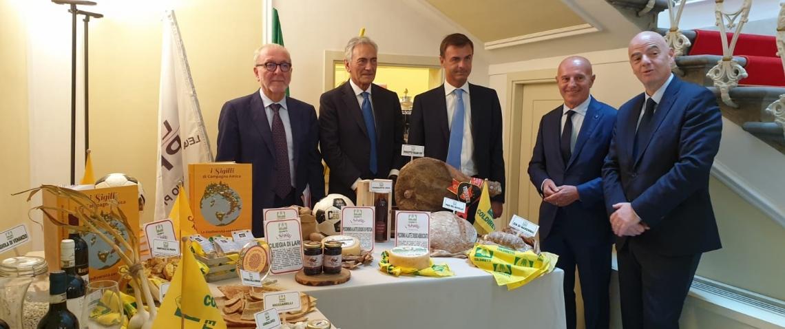 Campagna Amica e mondo del pallone insieme per valorizzare l'agroalimentare italiano