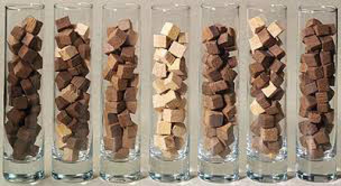 Trucioli di tralci di vite per affinare il vino