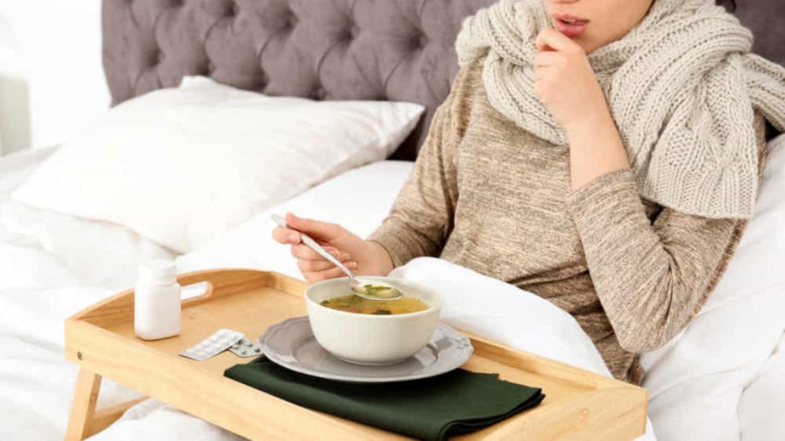 Un'alimentazione corretta aiuta a ridurre i sintomi dell'influenza