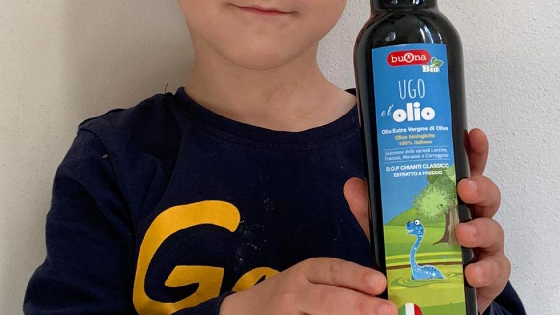 Ugo, l'olio exra vergine di oliva per bambini che debutta in tempo di Covid