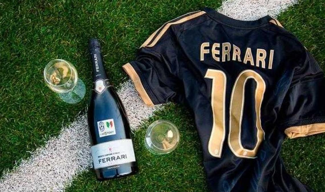 Bollicine Trento Doc Lunelli per celebrare lo scudetto della Juventus