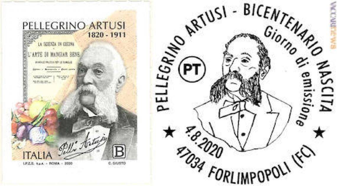 Un francobollo per i 200 anni della nascita di Pellegrino Artusi