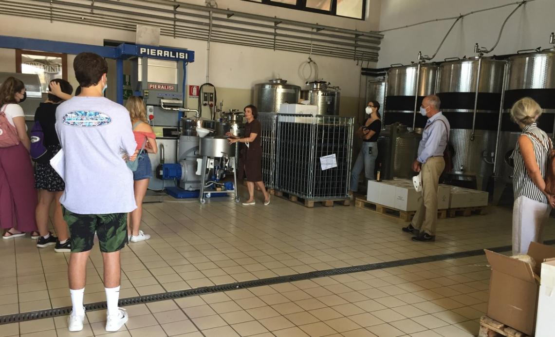 L'Università dell'Arizona a lezione d'olio d'oliva da Frantoio Bonamini