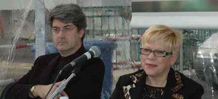 Laura Marvaldi con Luigi Caricato a Imperia al Premio Grinzane Cavour
