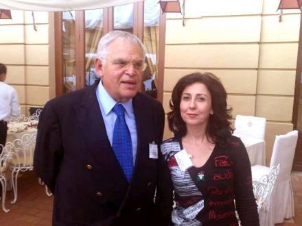 Alessandra Cuscinà con Edward N. Luttwak