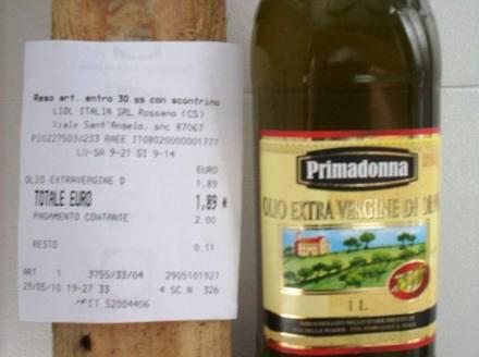 Proprio così: 1,89 euro la bottiglia da litro