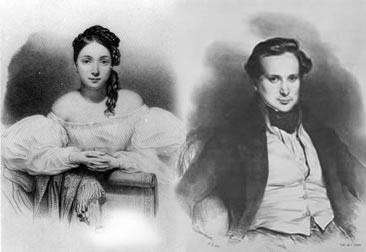 Juliette  Drouet e Victor Hugo