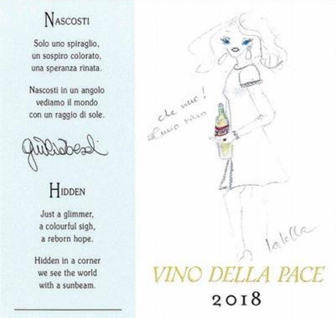 Raffaella Curiel disegna l'etichetta del Vino della Pace