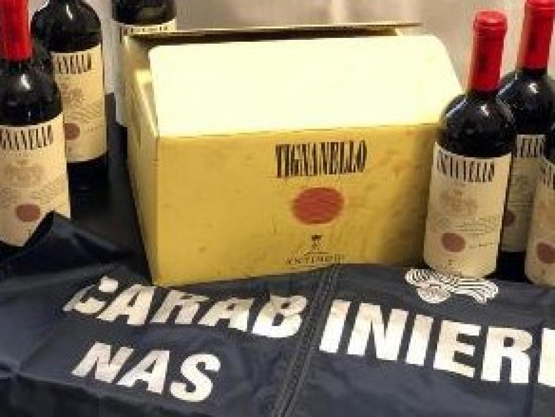 "Operazione ""vuoti a rendere"": contraffatte migliaia di bottiglie di vini pregiati"