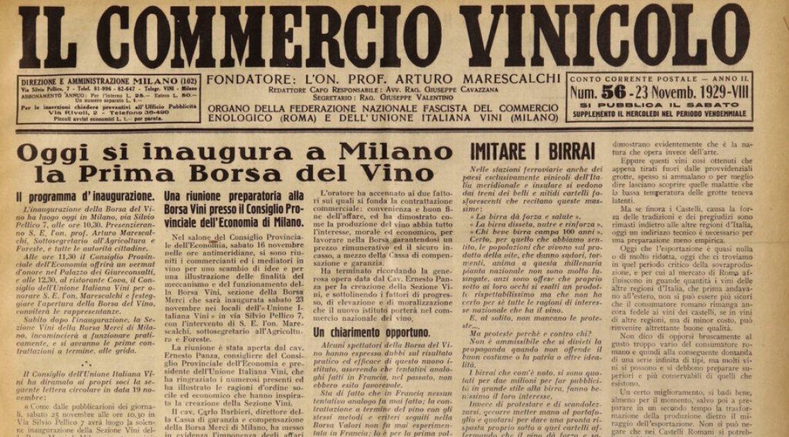"""Sono """"beni culturali"""" l'archivio e la biblioteca di Unione italiana vini"""