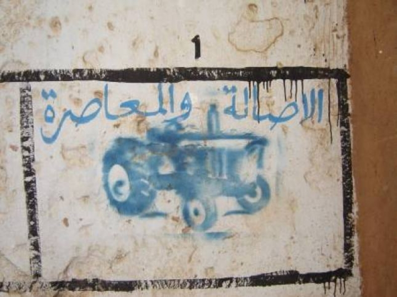 Il segno dell'agricoltura sui muri di Rabat, in Marocco - Foto di Luigi Caricato