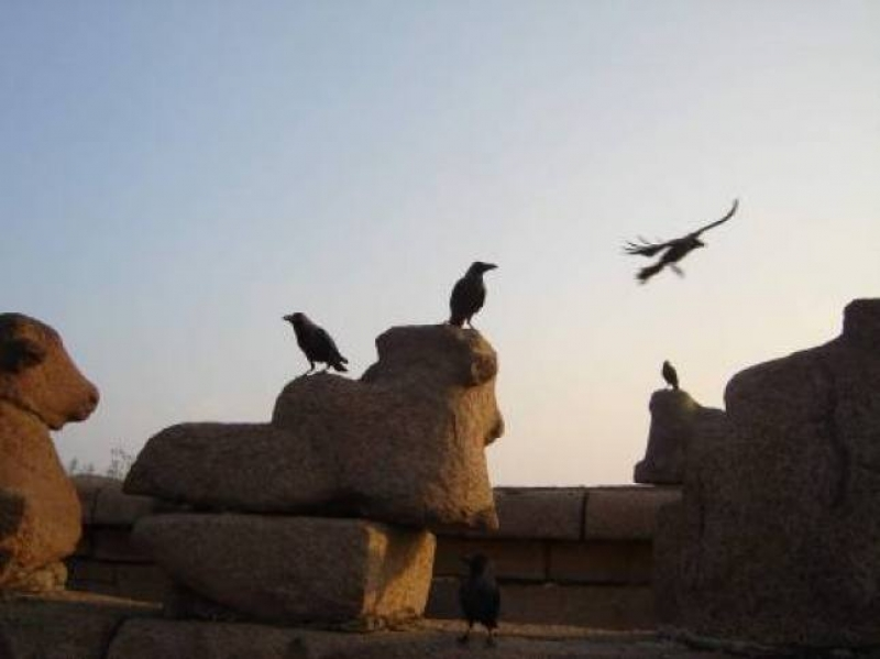 Tramonto a Mahabalipuram, stato indiano di Tamil Nadu - Foto di Luigi Caricato