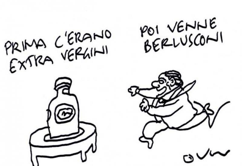 La vignetta di Vincino per Teatro Naturale. Riproduzione vietata