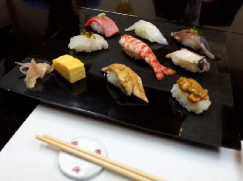 Sushi ad Amakusa (Giappone)
