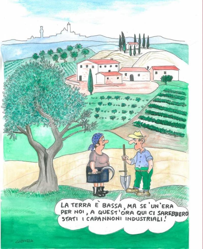 Giannelli omaggia la sua Siena agricola
