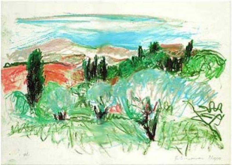 "George Schneeman - calendario ""Paesaggi Senesi"", ali edizioni"